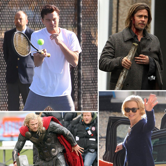 Brad Pitt, Leonardo DiCaprio, Nicole Kidman, and More Stars on Set