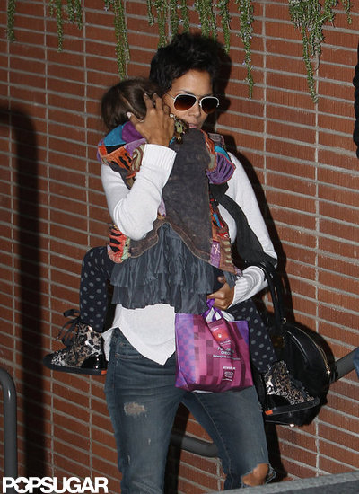 Nahla Aubry held onto mom Halle Berry.