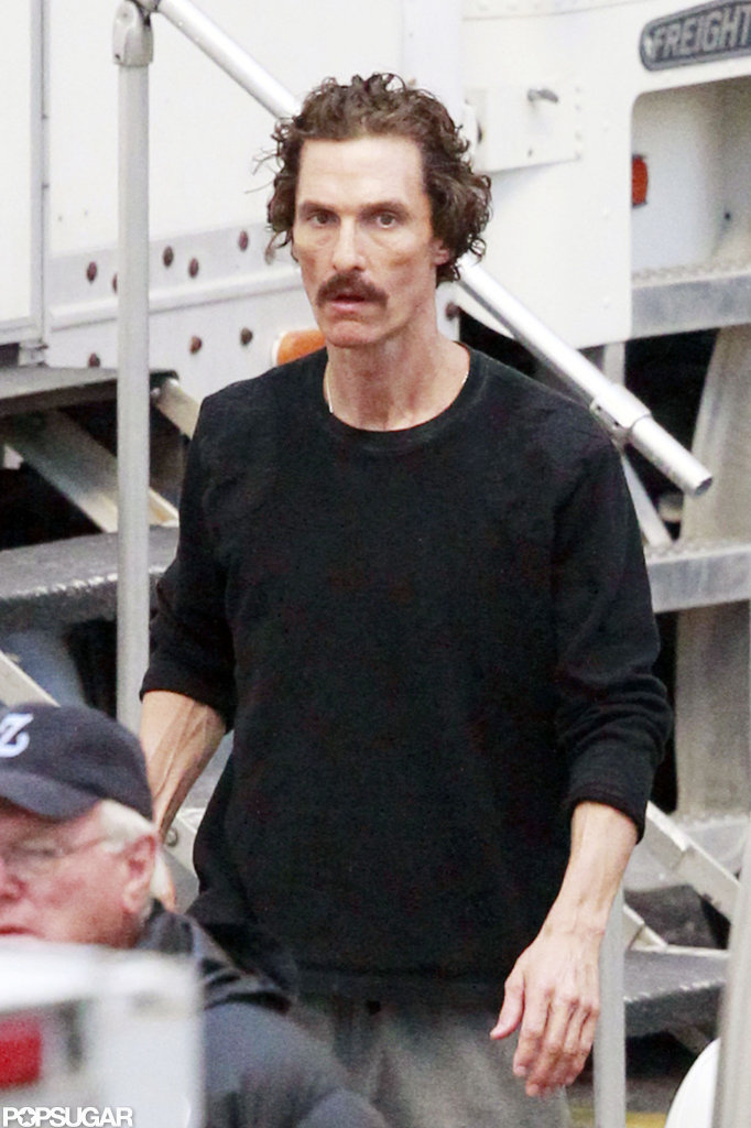 Matthew McConaughey looked frail on the set of The Dallas Buyer's Club.