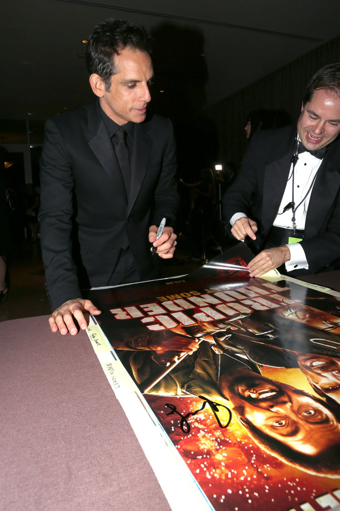 Ben Stiller signed autographs at the American Cinematheque Awards in LA.