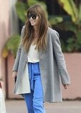 Jessica Biel crossed the street in Santa Monica to get into her car.