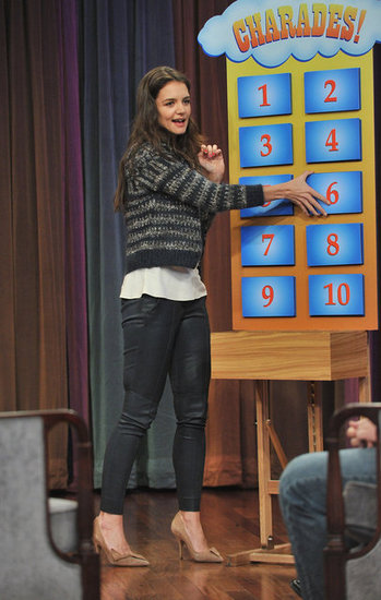 Katie Holmes Talks Dawson's Reunion and Plays Charades With Jimmy Fallon
