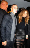 Jennifer Lopez wore a sexy skirt for a night out with Casper Smart.
