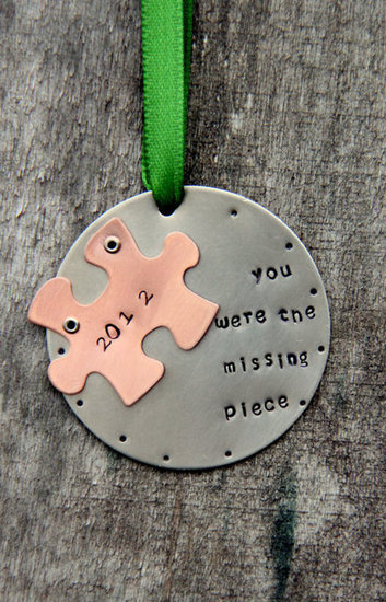 White Lilie Designs Puzzle Piece Ornament