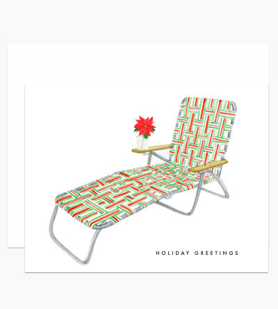 Sending your greeting from a sunny locale? The Dear Hancock Holiday Lounge Card ($14 for six) is a playful way to say hello.