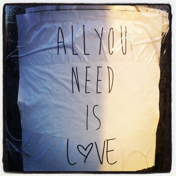 Our office motto. Well, not really — Alison just snapped this on her way into work. We love it!