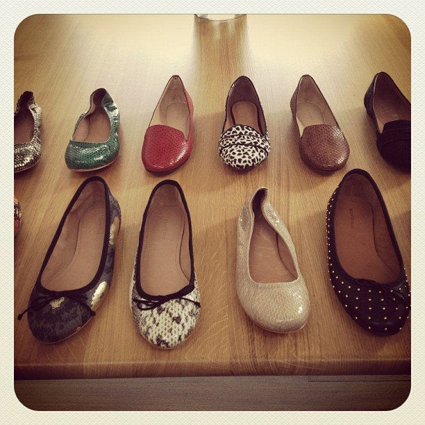 Ballet flats, everywhere! Some of the new goodies we'll be seeing in Country Road soon.