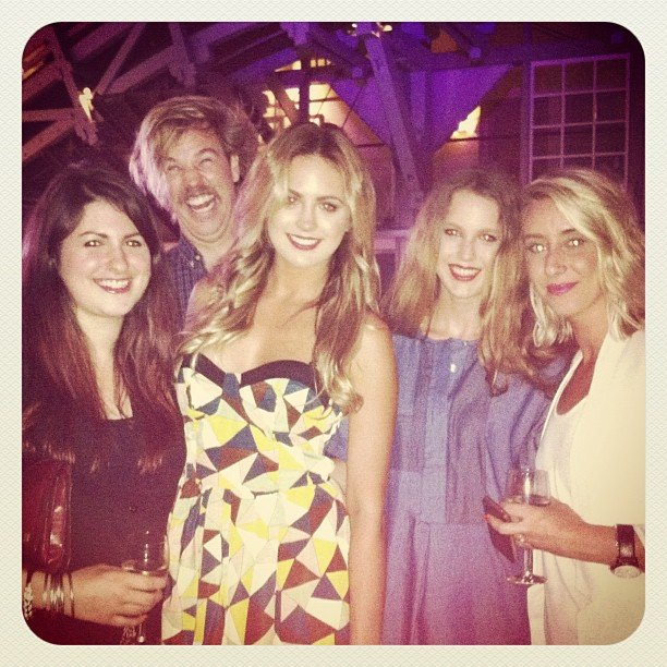 Associate editor Gen (far left) and BellaSugar editor Alison (far right), mingled with guests Jesinta Campbell and her sister Aleysha at the CLEO Swim Party on Tuesday night. Guest appearance in the background by a photo-bombing Danny Clayton.