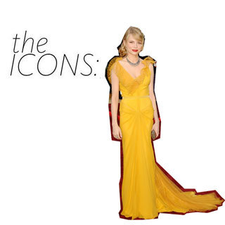 Michelle Williams Iconic Vera Wang Yellow Dress