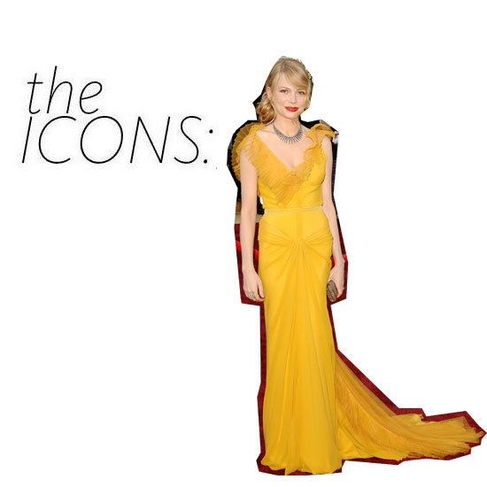 The Icon Kit: Michelle Williams in Yellow Vera Wang