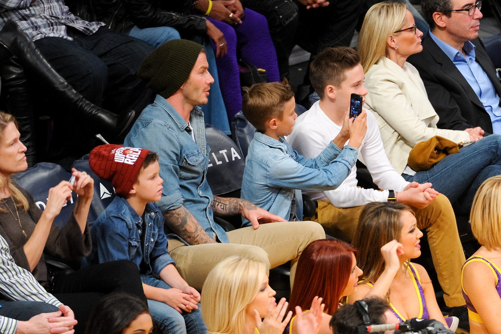 The Beckham Boys Put on a Sweet Show During the Laker Game