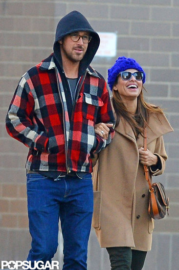 Ryan Gosling and Eva Mendes braved the cold in NYC.