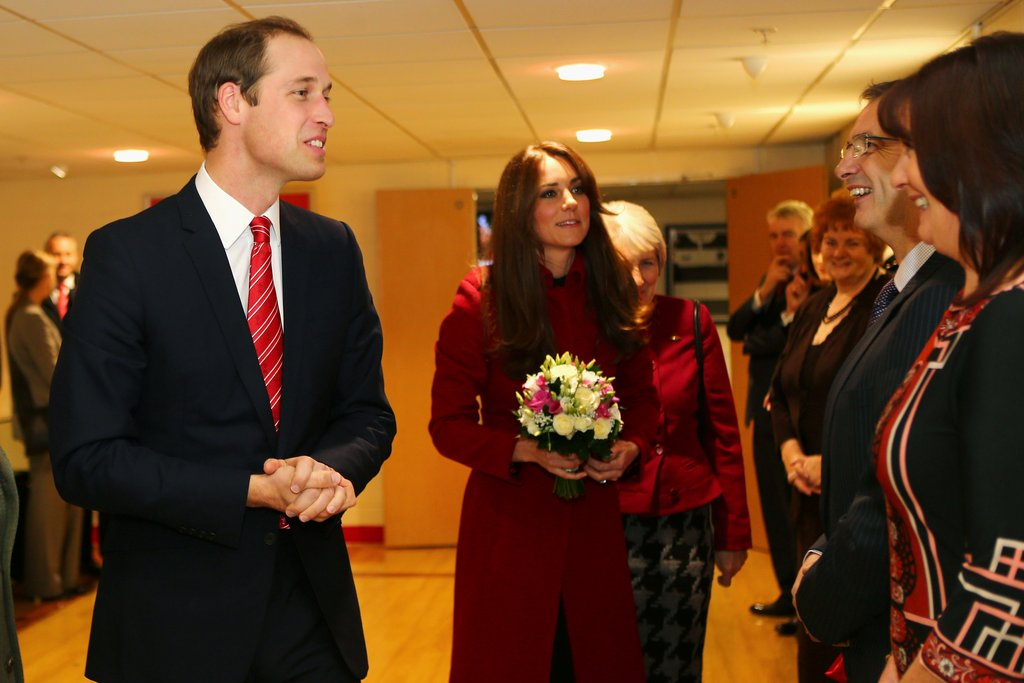 Kate Middleton and Prince William met with rugby fans before a match in Cardiff.