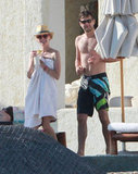 Diane Kruger and Joshua Jackson hung out by the pool.