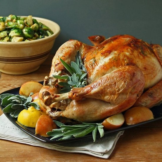 Easy Roasted Turkey w/ Sage &amp; Apples