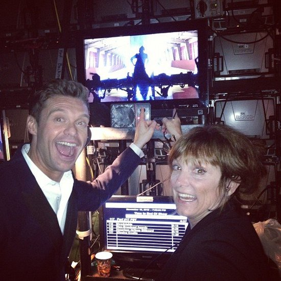 Ryan Seacrest watched Psy and MC Hammer close the show from backstage. Source: Instagram user ryanseacrest