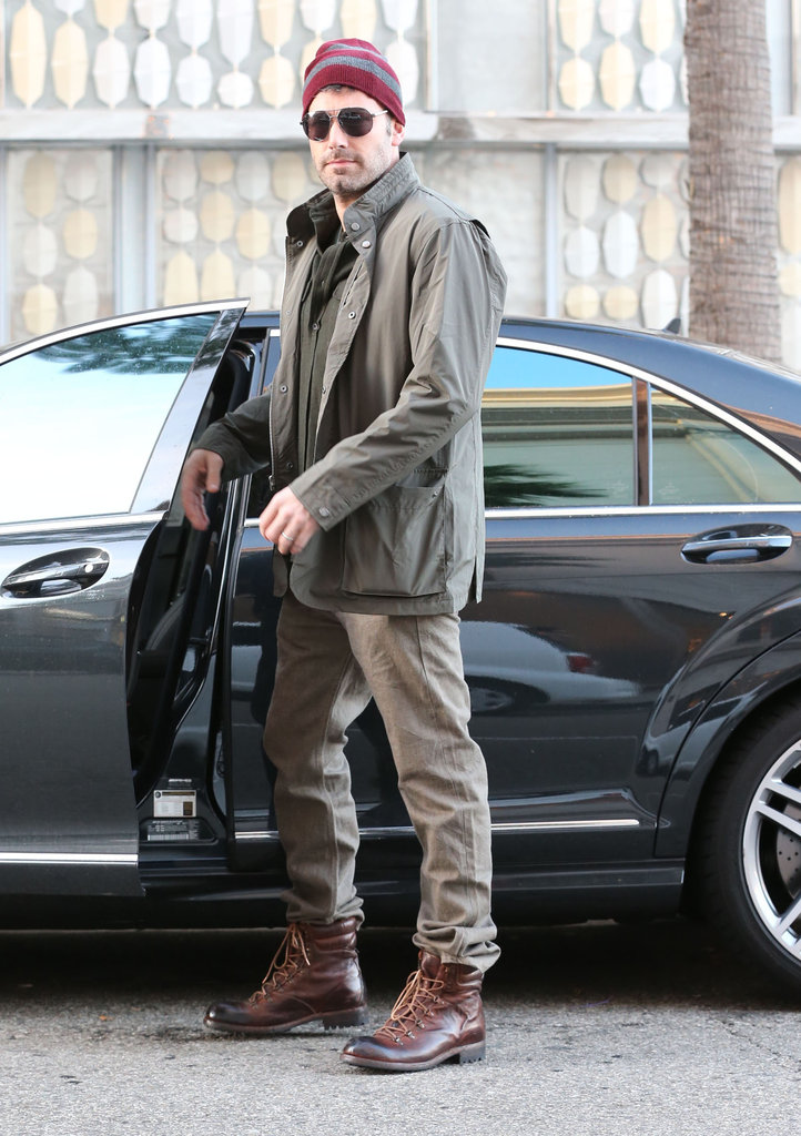 Ben Affleck sported a beanie in Beverly Hills.