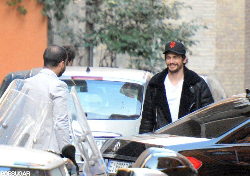 James Franco smiled while out in rome.