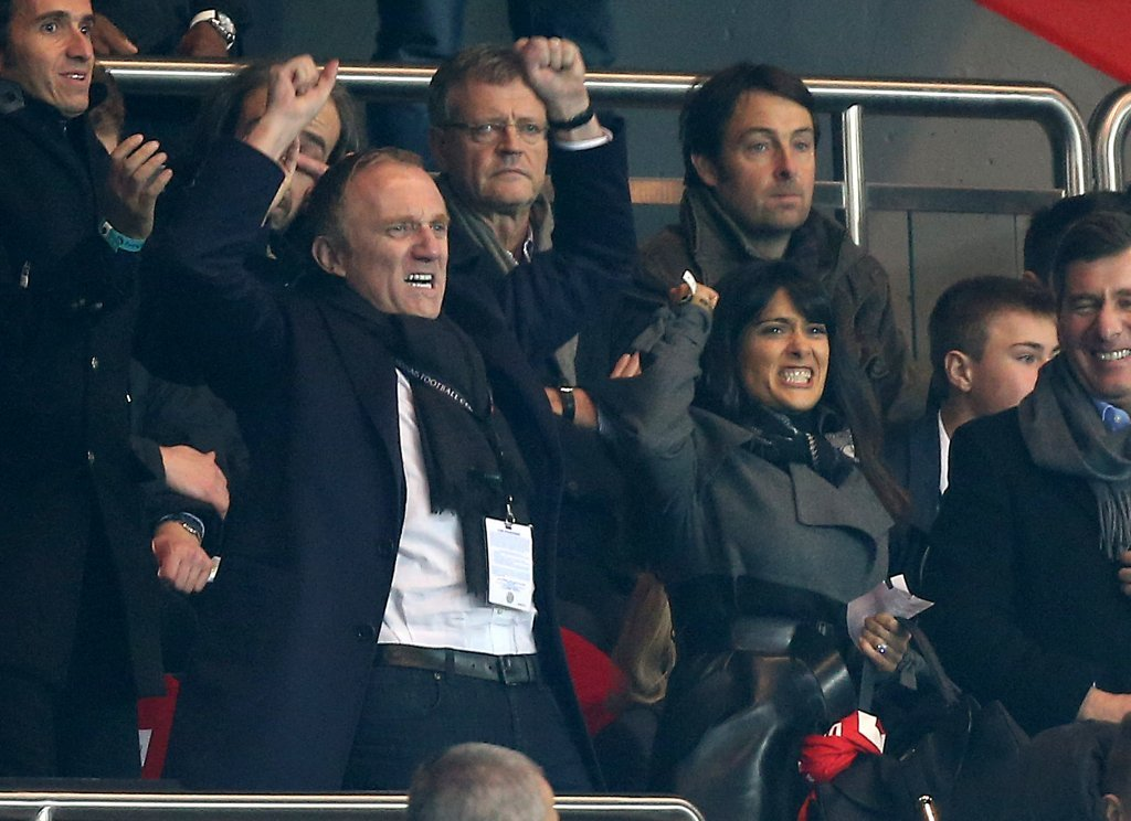 Salma Hayek and Francois-Henri Pinault cheered on their team.