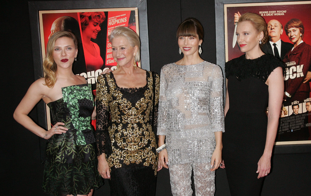 Jessica Biel, Scarlett Johansson, Toni Collette and Helen Mirren posed for photos.