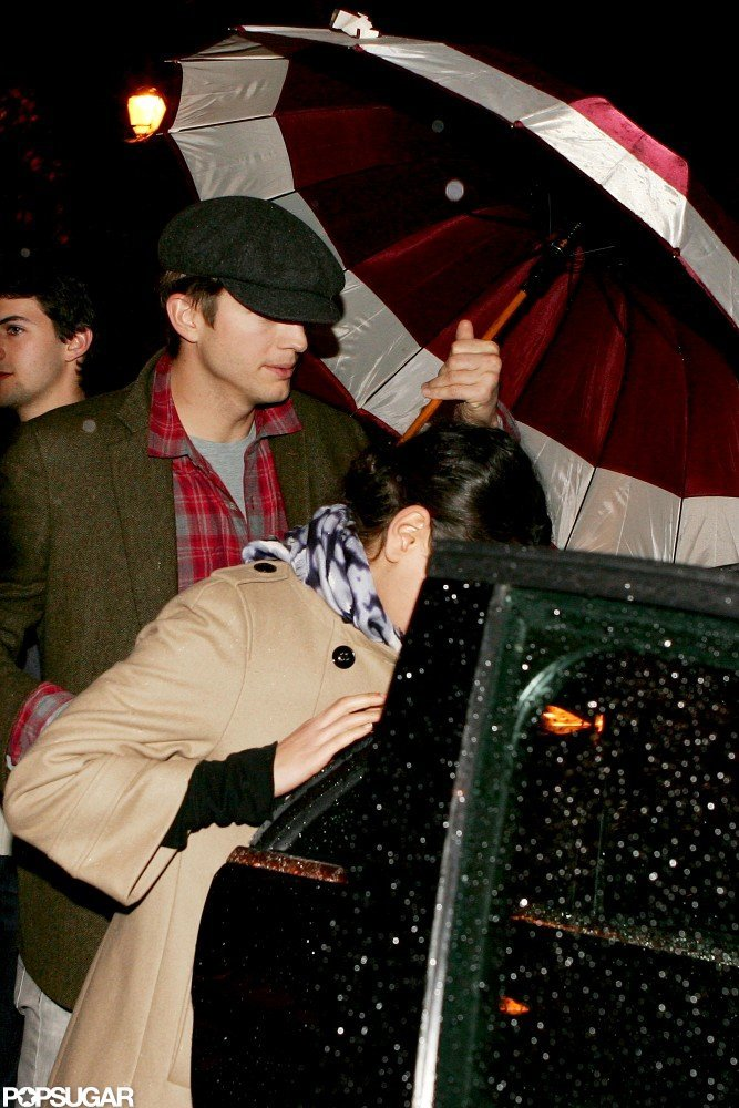 Ashton Kutcher had a dinner date with Mila Kunis in rome.