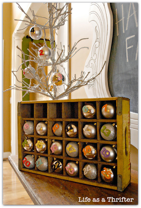 DIY: Life as a Thrifter's Upcycled Advent Calendar