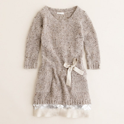 J.Crew Shimmer Trim Sweater Dress