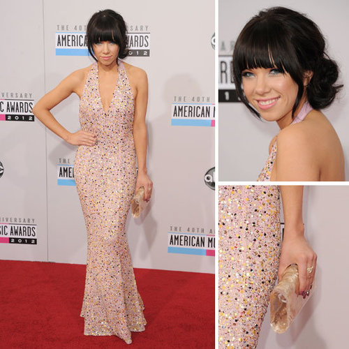 Pictures of Carly Rae Jespen at the American Music Awards