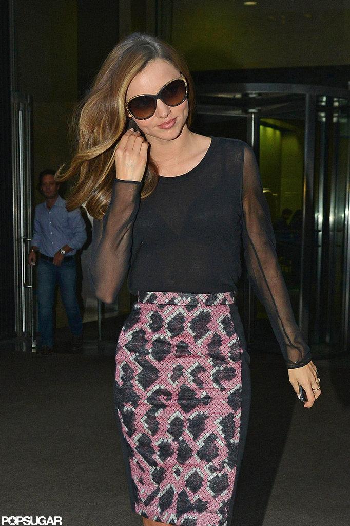 Miranda Kerr headed out of a meeting.
