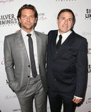 Bradley Cooper posed with director David O. Russell.