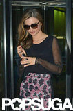 Miranda Kerr wore a printed skirt.
