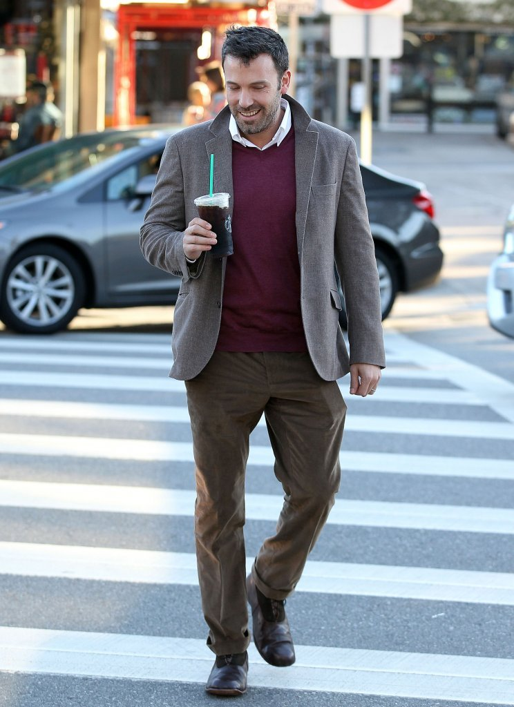 Ben Affleck was all smiles as he crossed the street.