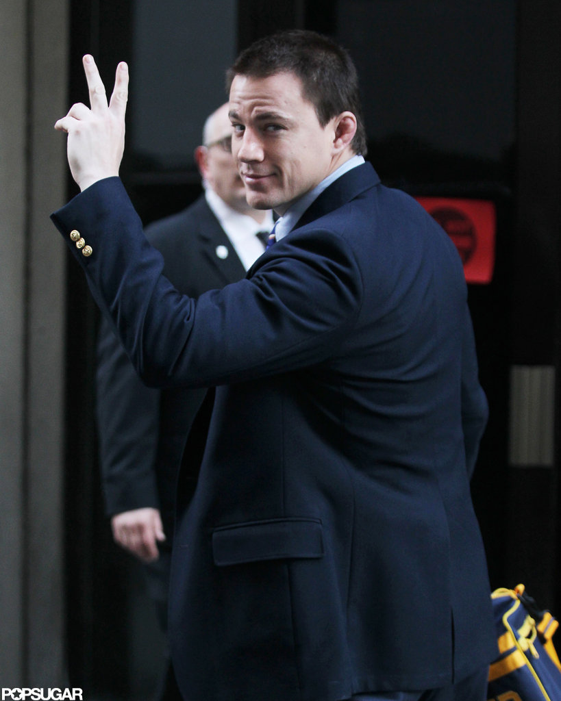 Channing Tatum was on set in Pittsburgh.