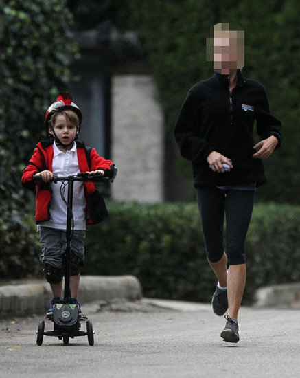 Guess Which TV Mom Was Out For a Jog With Her Real-Life Son?