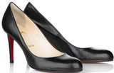 Christian Louboutin Simple Round Toe Leather Pumps