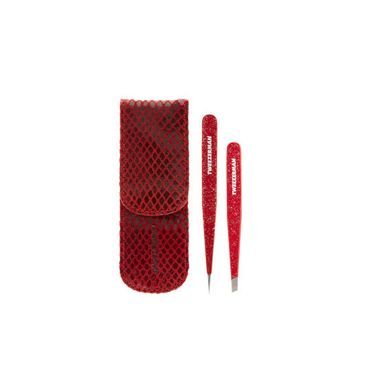 Tweezerman Red Glitter Petite Tweeze Set, approx $56.10