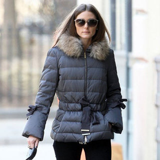 Olivia Palermo Wearing Fur Puffer Jacket