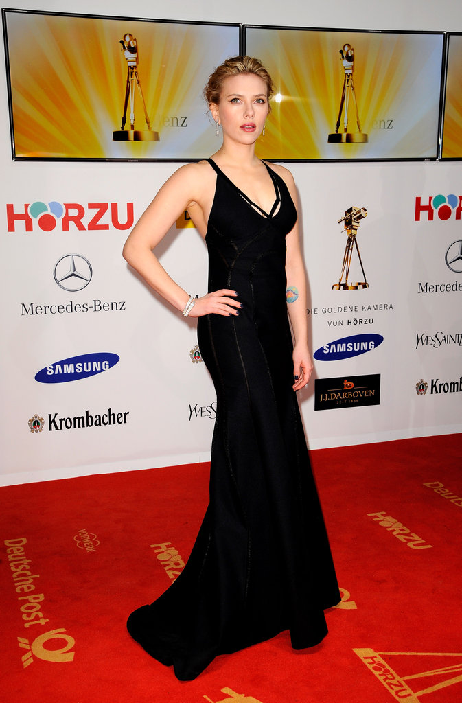 Scarlett Johansson looked great at Berlin's Goldene Kamera awards in 2012.