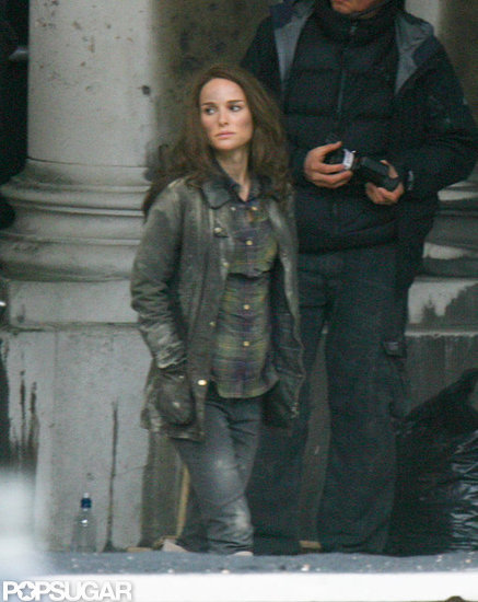 Natalie Portman wore a short and jacket to film Thor: The Dark World in London.