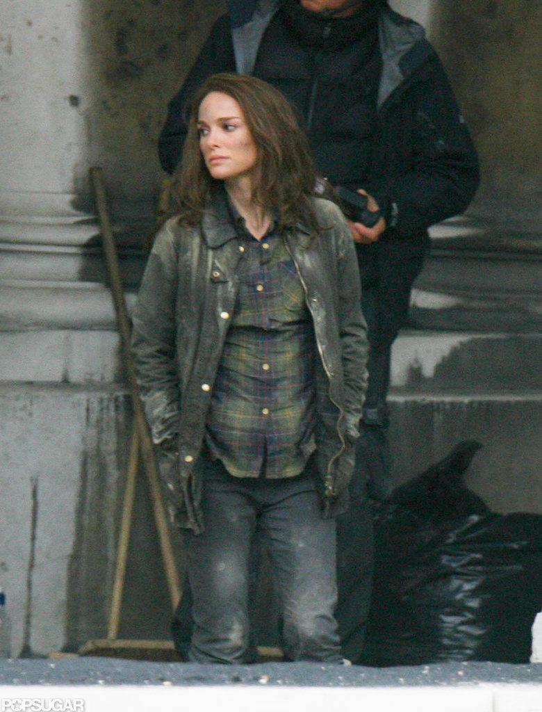 Natalie Portman was on set in London.