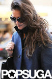 Katie Holmes sported sunglasses.