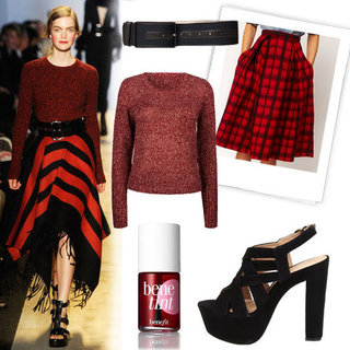 Michael Kors Plaid Skirt Fall 2012