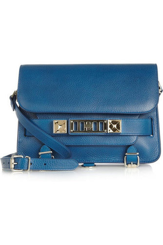 This Proenza Schouler PS11 Classic textured-leather shoulder bag ($1,950) is the ultimate splurge and well worth it if you ask me. From the refreshing blue hue to the perfectly shaped silhouette, this investment piece will surely withstand the test of time. — Chi Diem Chau, associate editor