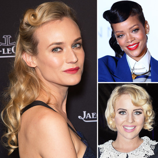 Diane Kruger, Rihanna and Lydia Rose Bright wear Retro Curls