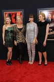 Scarlett Johansson, Dame Helen Mirren, Jessica Biel and Toni Collette hit the red carpet on November 18 for the premiere of their new film, Hitchcock.