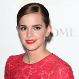 Emma scraped her short locks into a ballerina bun-lookalike in February 2012 — complete with a side part!