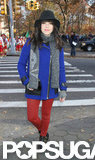 Carly Rae Jepsen checked out the Macy's Thanksgiving Day Parade in NYC.