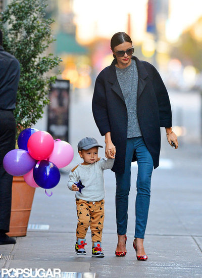 Miranda Kerr and Son Flynn Mark the Holiday in NYC