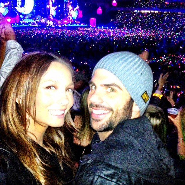 Ricki-Lee Coulter and her boyfriend Rich Harrison went to Coldplay's Sydney concert. Source: Instagram user therickilee