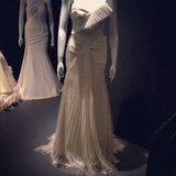 So much Vera Wang goodness! This one reminded us of Michelle Williams' iconic marigold Oscars dress from 2006.
